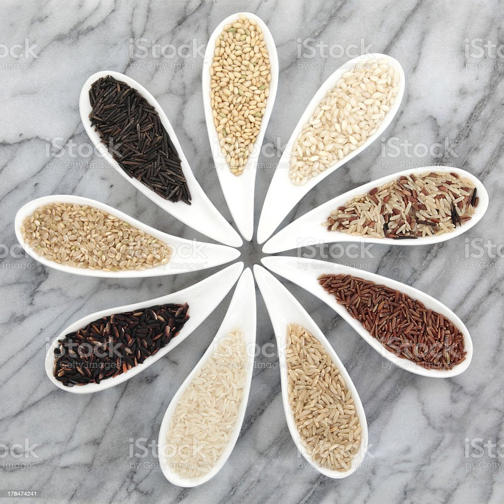 Rice Types royalty-free stock photo