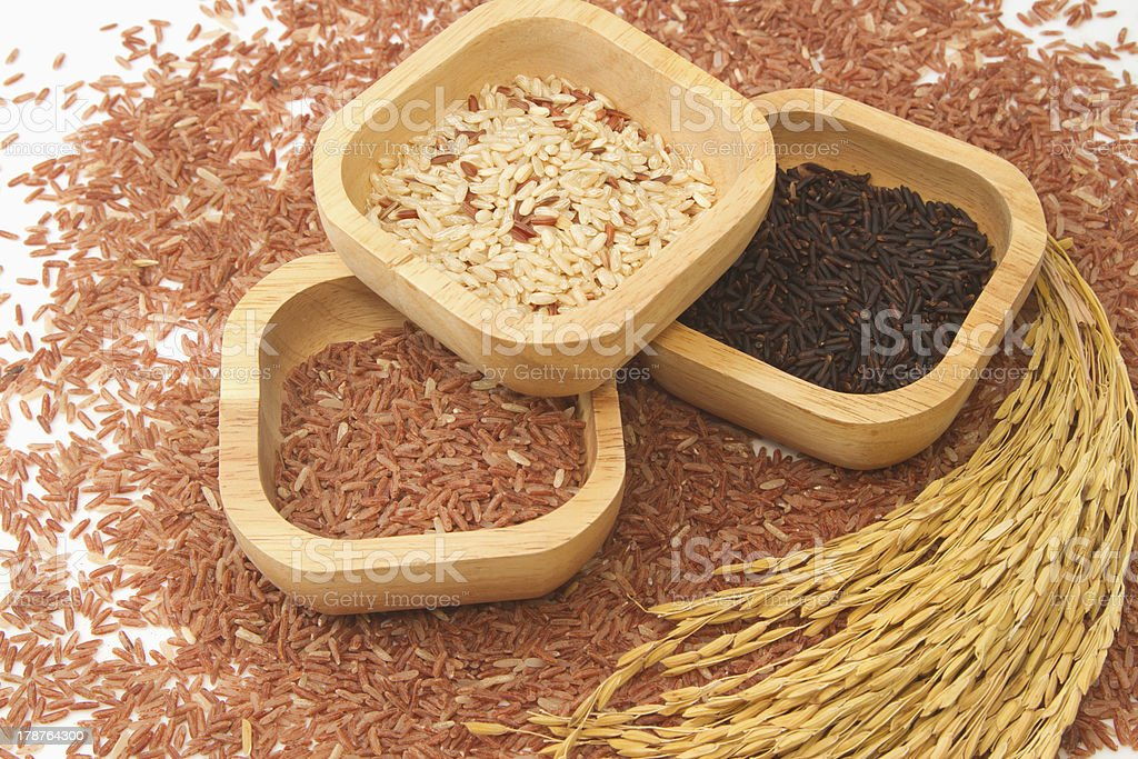 Rice varieties,Grain And Cereal Products royalty-free stock photo
