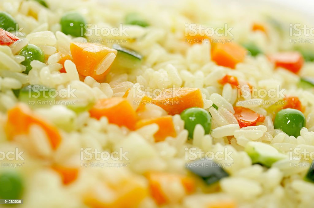 Rice & Vegetables stock photo