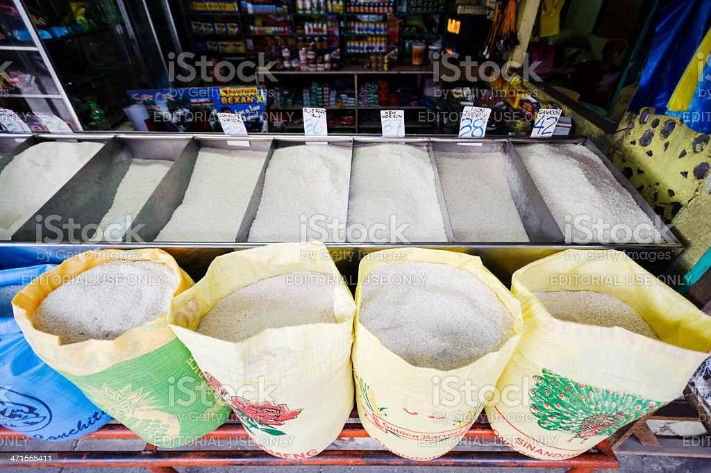 Rice Vendor in Philippines royalty-free stock photo