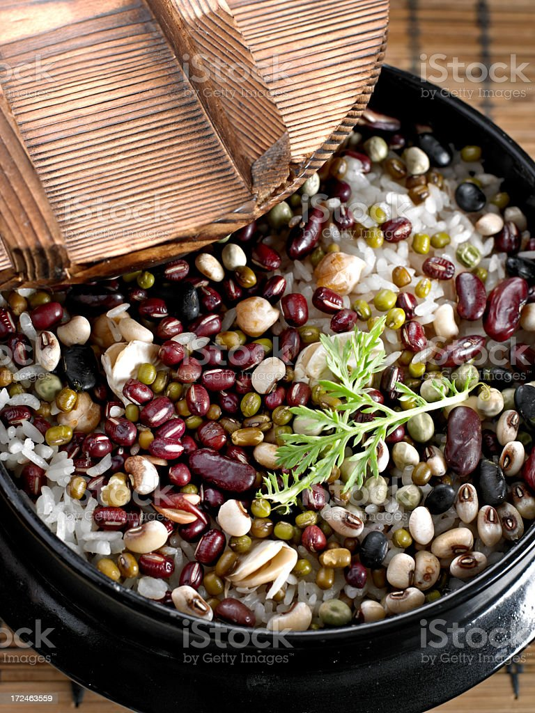 Rice with Beans royalty-free stock photo