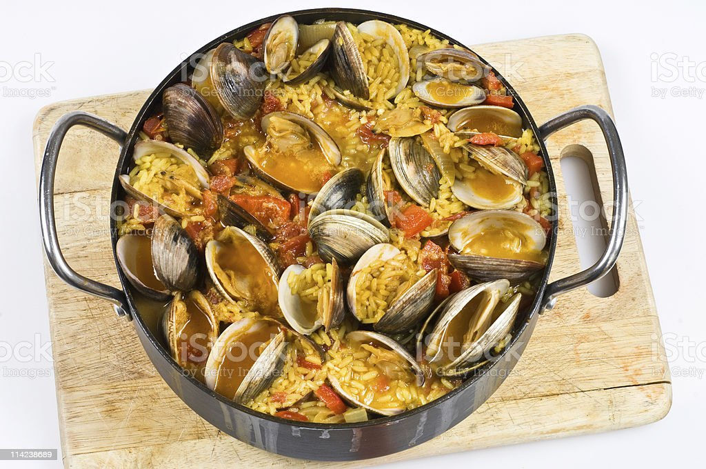 Rice with clams stock photo