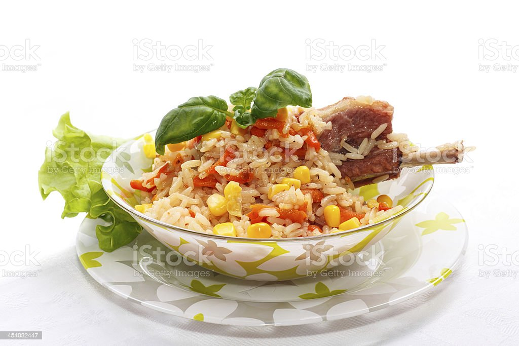 rice with meat royalty-free stock photo