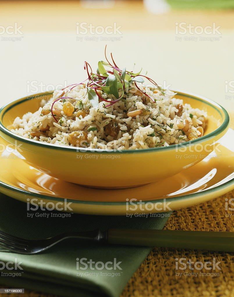 Rice with raisins royalty-free stock photo
