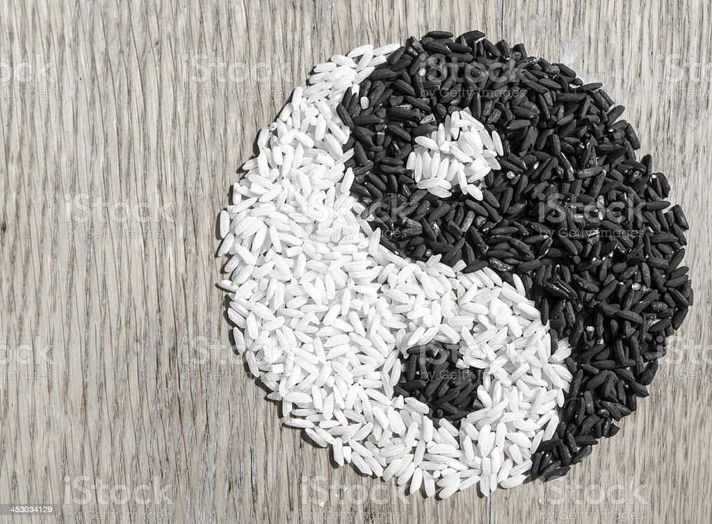 Rice yin yang royalty-free stock photo