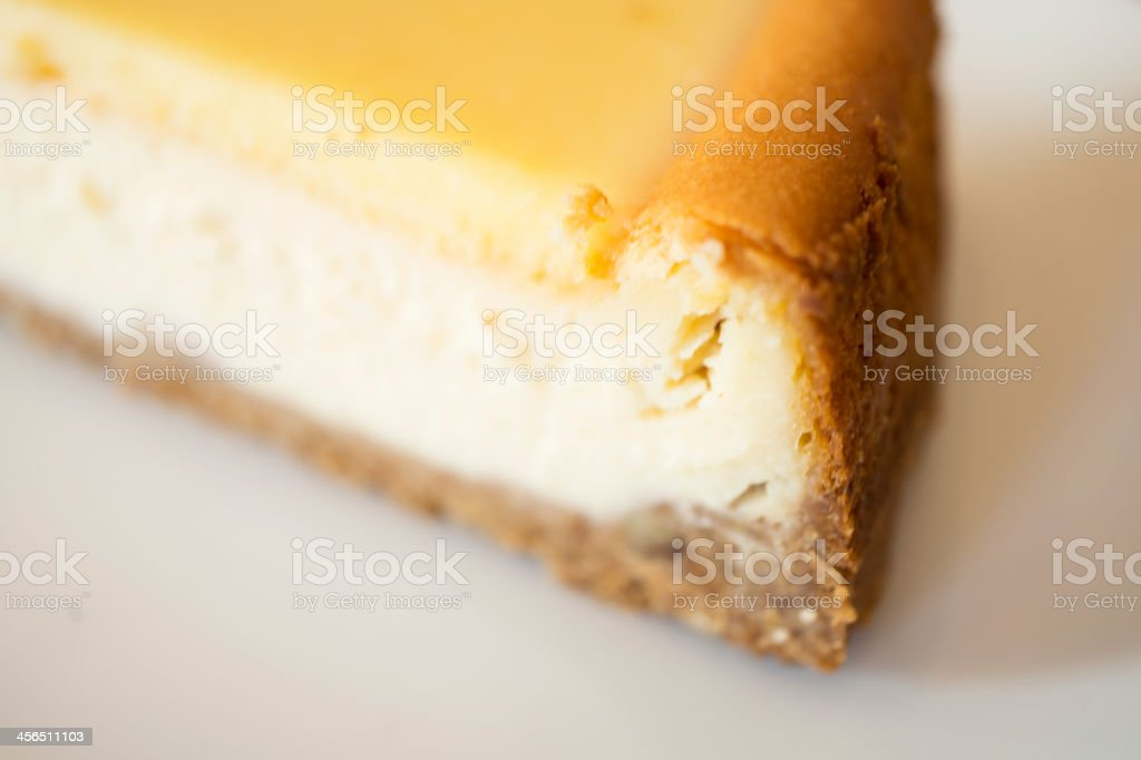 Rich and creamy lemon cheesecake stock photo