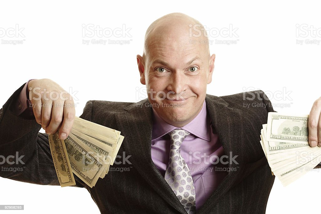 Rich and Happy Businessman royalty-free stock photo