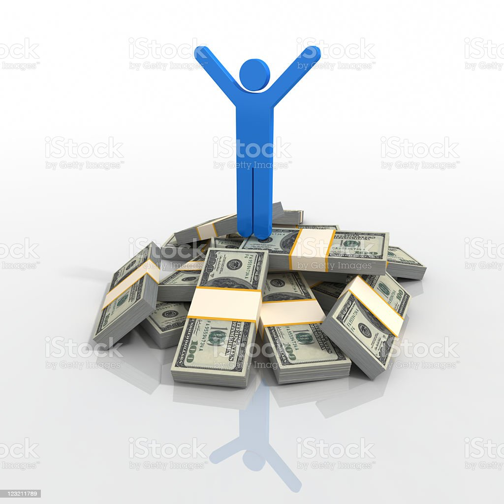 Rich and Happy! royalty-free stock photo