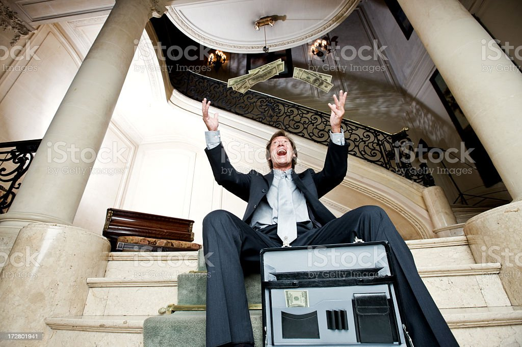 Rich and Happy royalty-free stock photo