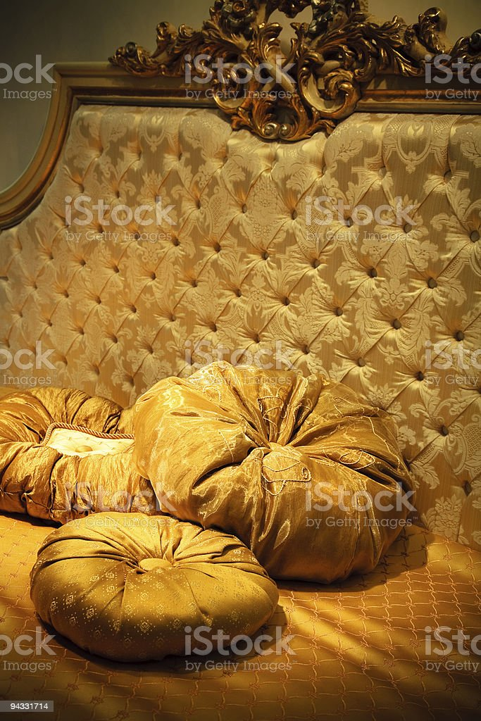 rich bed royalty-free stock photo