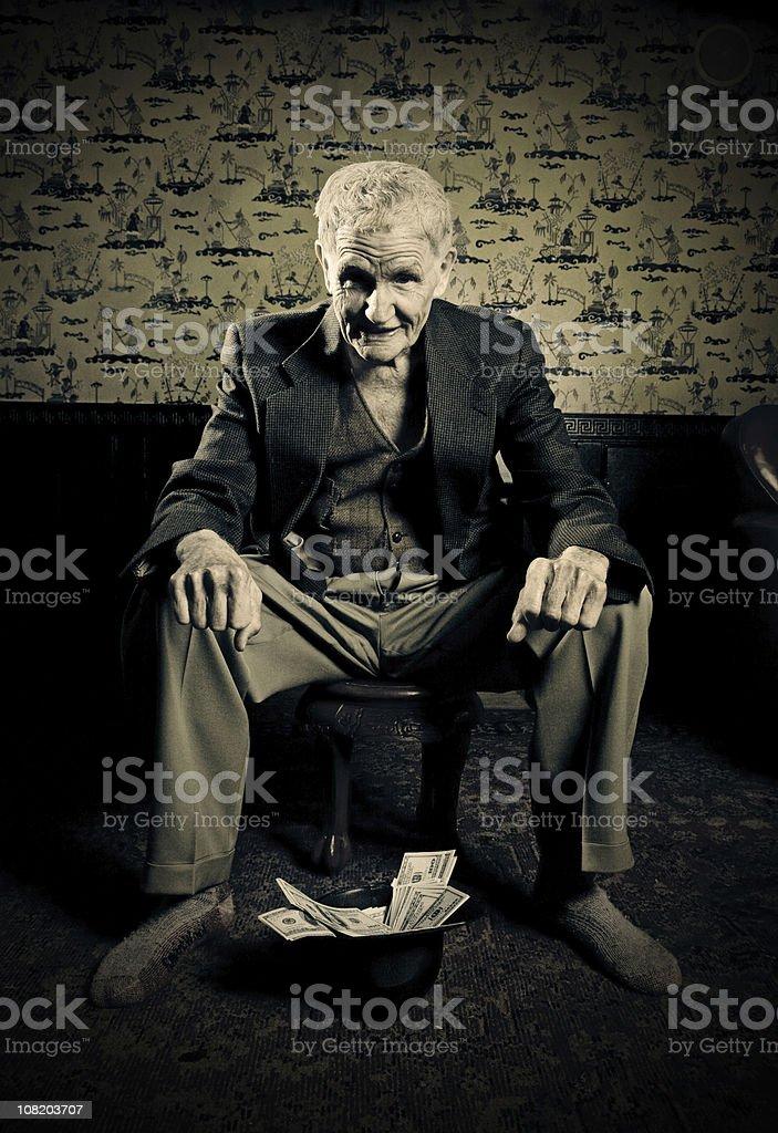 rich beggar royalty-free stock photo