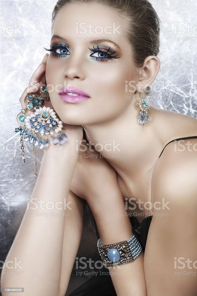 rich blond woman royalty-free stock photo