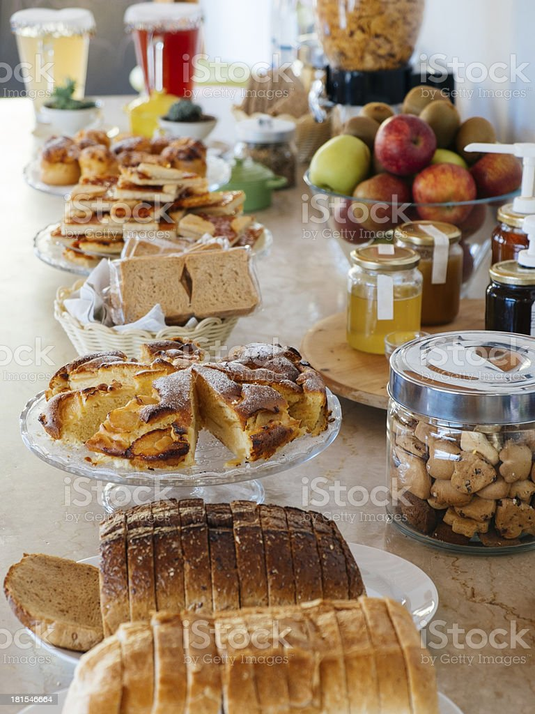 Rich breakfast buffet stock photo