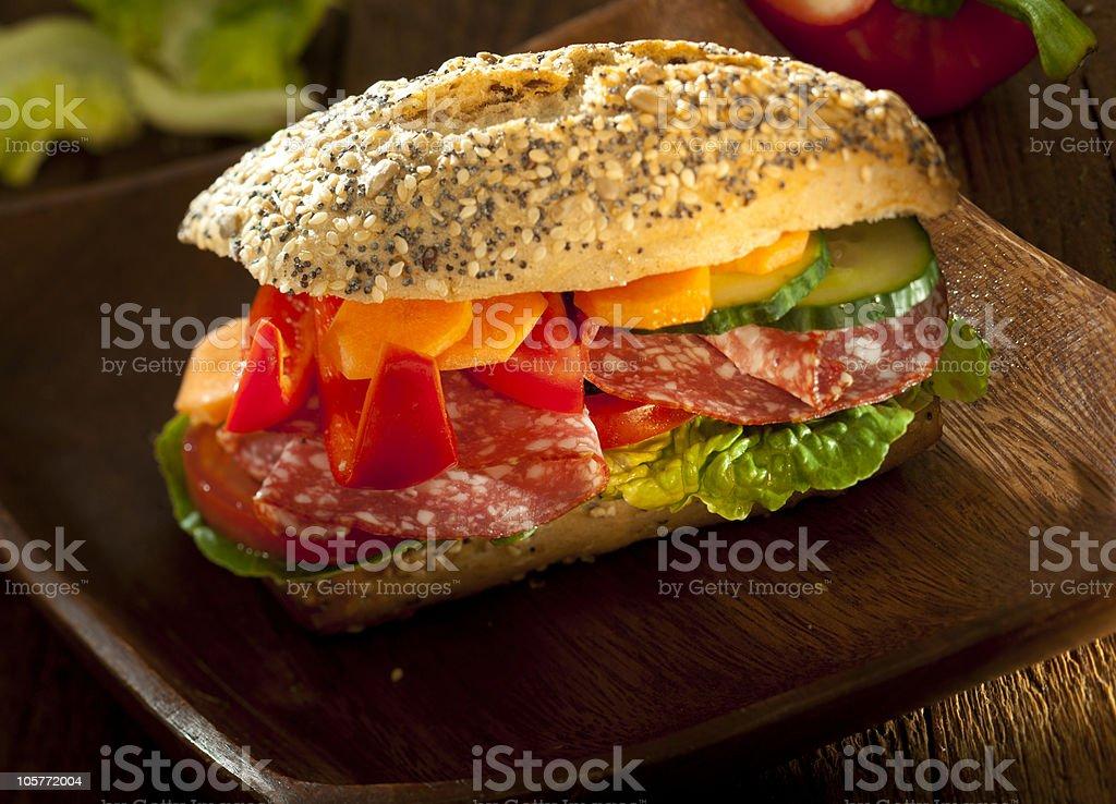 Rich burger royalty-free stock photo