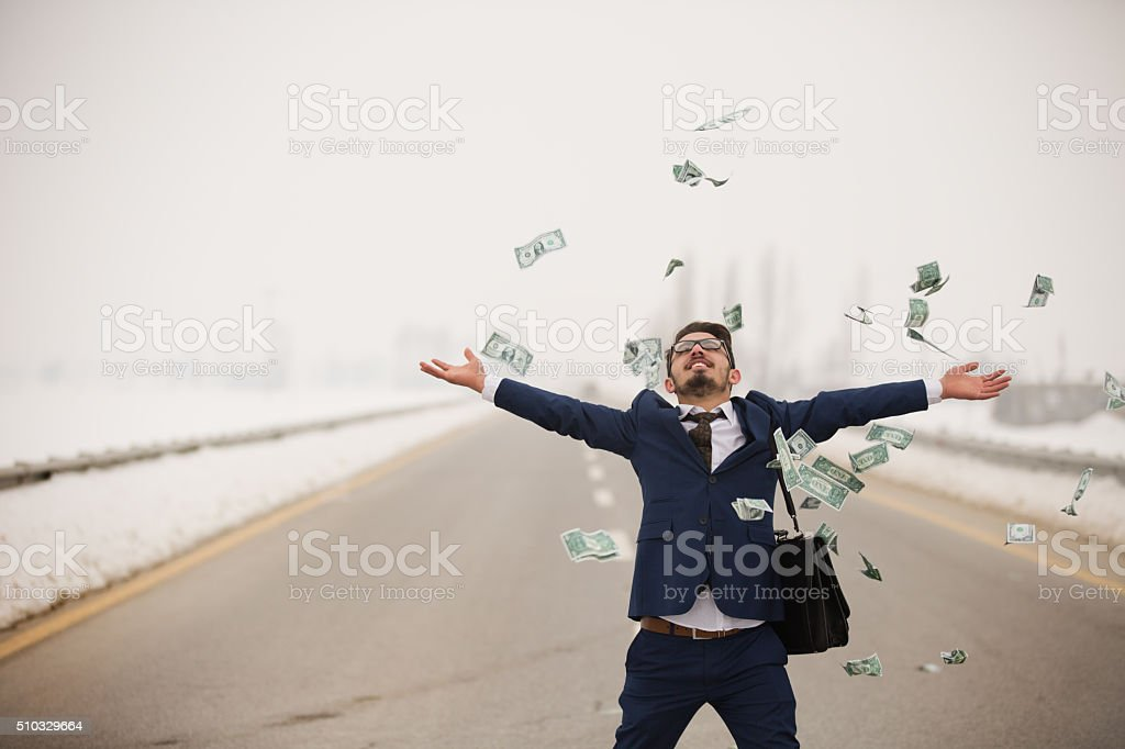 Rich Business man stock photo