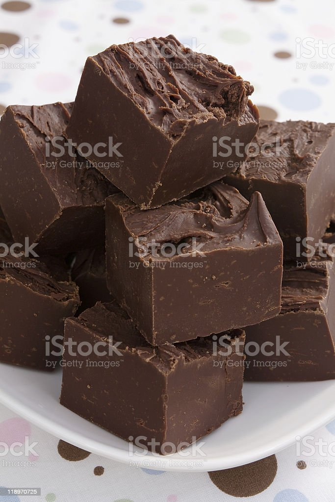 Rich Chocolate Fudge stock photo