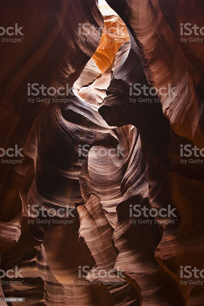 Rich colored layers of Antelope Canyon royalty-free stock photo