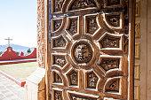 Rich decorated door of the Templo San Cayetano, Guanajuato, Mexico