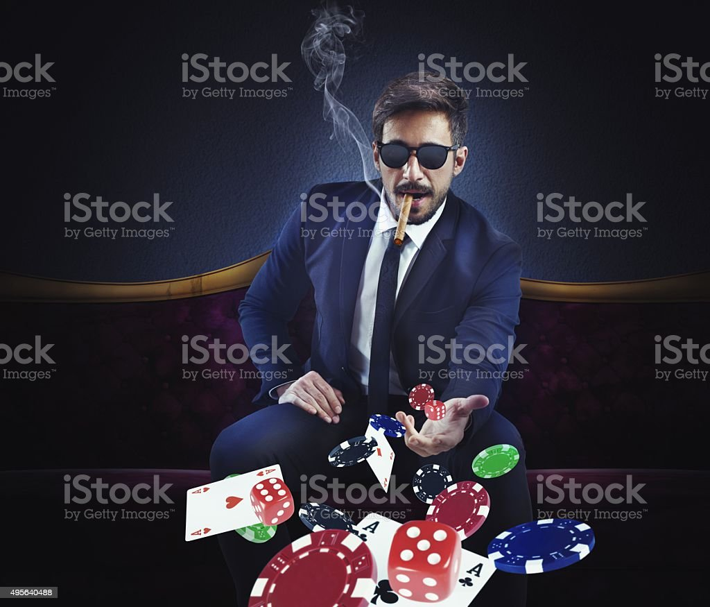 Rich gambler stock photo