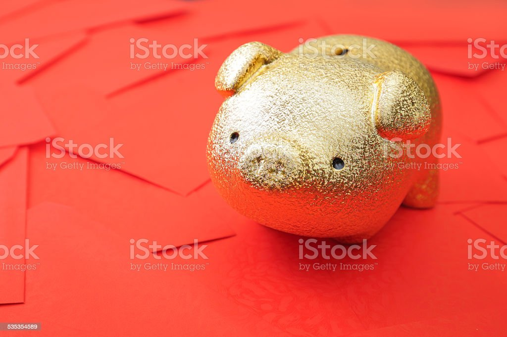 Rich in new year stock photo