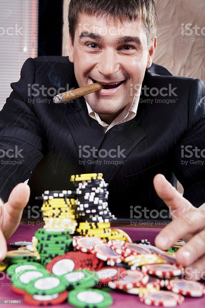 Rich man royalty-free stock photo