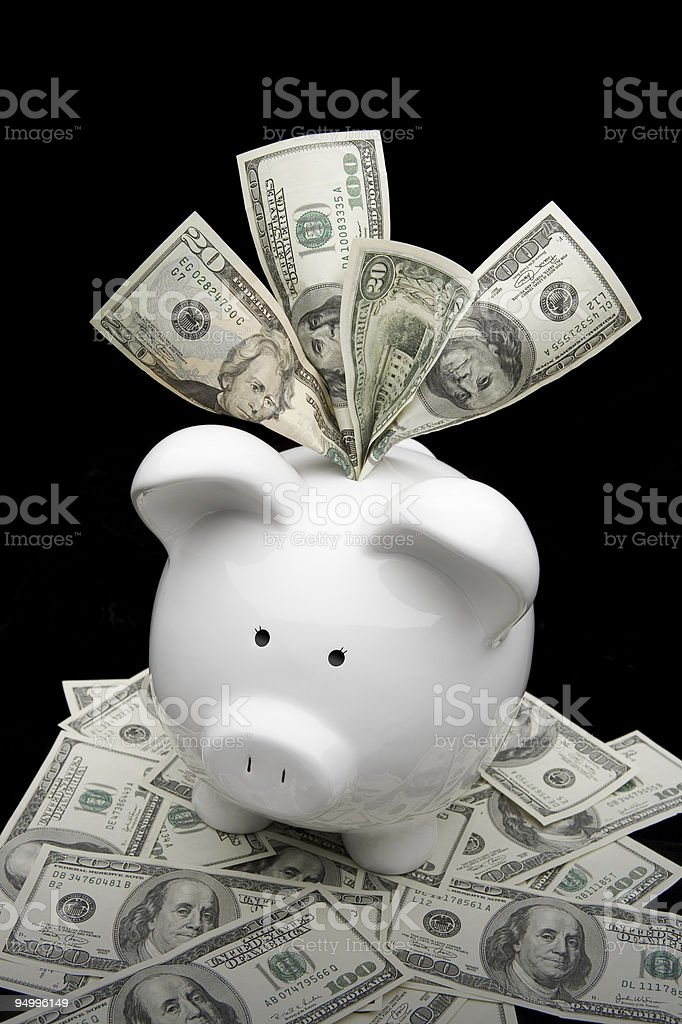 Rich Piggybank royalty-free stock photo