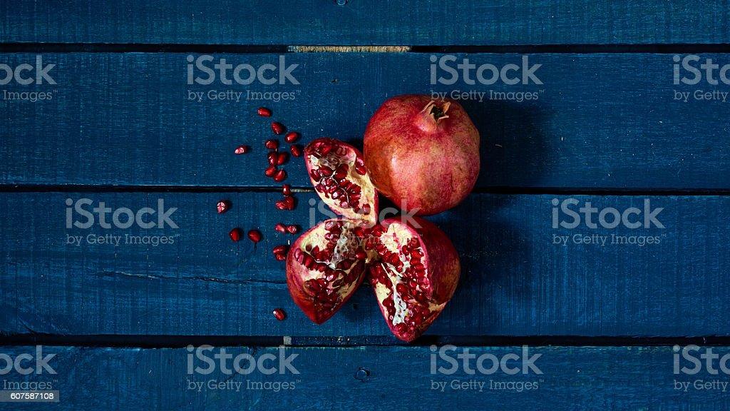 Rich pomegranate stock photo