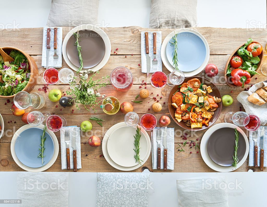 Rich table stock photo
