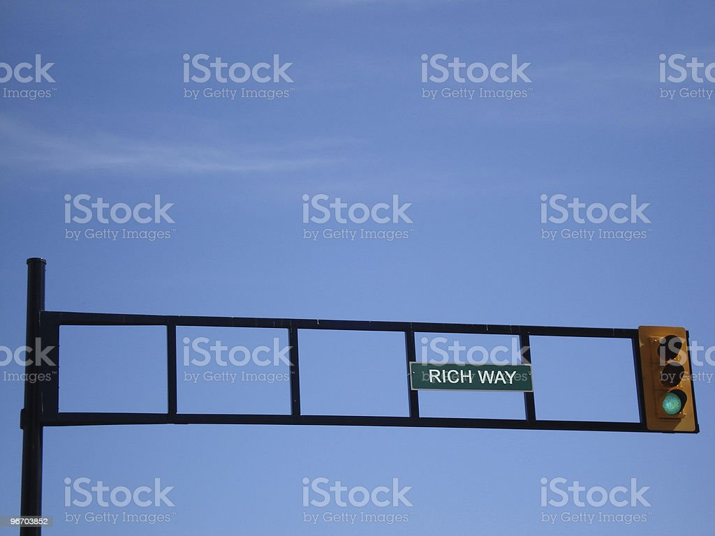 Rich Way Road Sign royalty-free stock photo