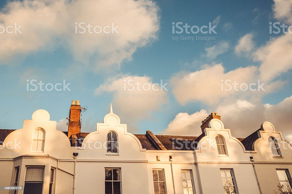 Rich white town stock photo