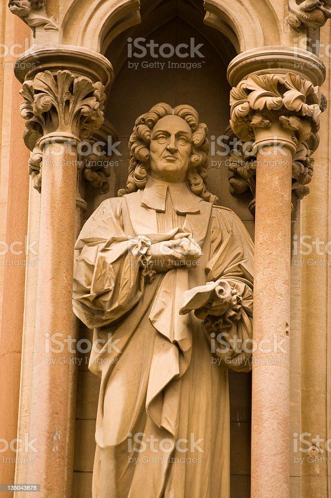 Richard Bentley Statue, Cambridge stock photo