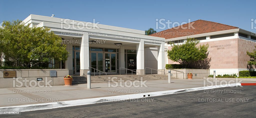 Richard Nixon Library and Museum stock photo