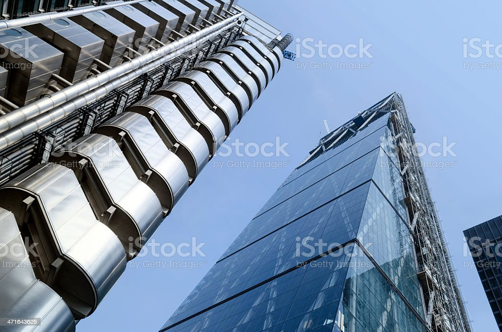 Richard Rodgers designed buildings in the city London royalty-free stock photo