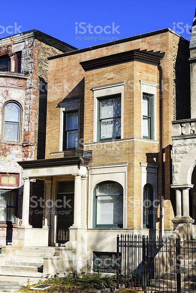 Richard Wright House, Chicago stock photo
