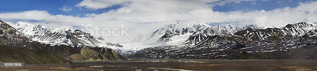 Richardson Hwy view at the glacier in Alaska Range royalty-free stock photo