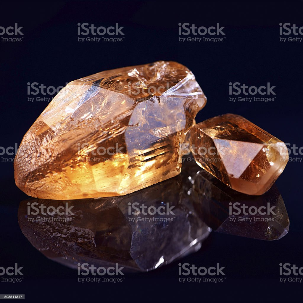 Riches from deep within the earth stock photo