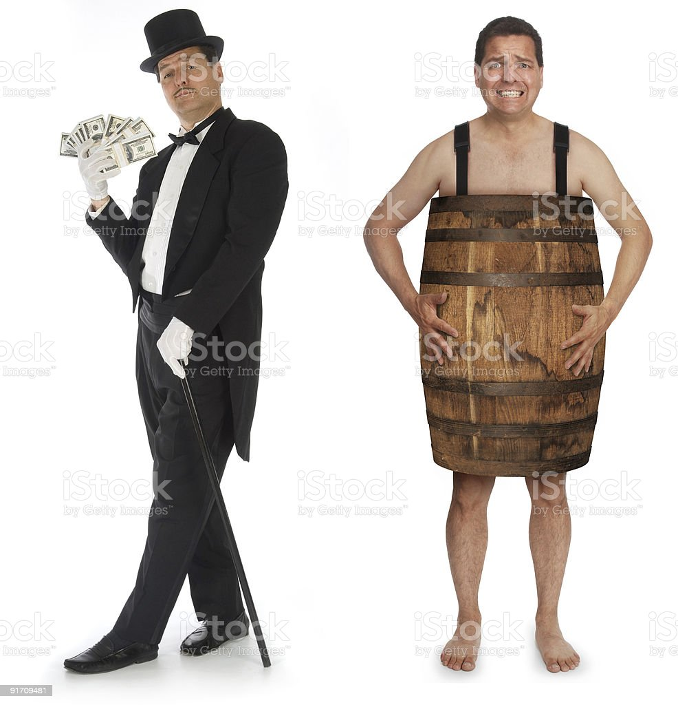 Riches to Rags royalty-free stock photo