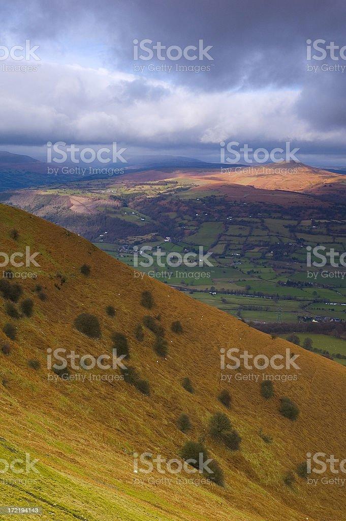 Richly colored landscape stock photo