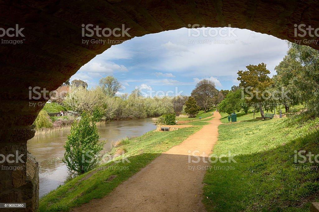 Richmond Bridge Arch stock photo