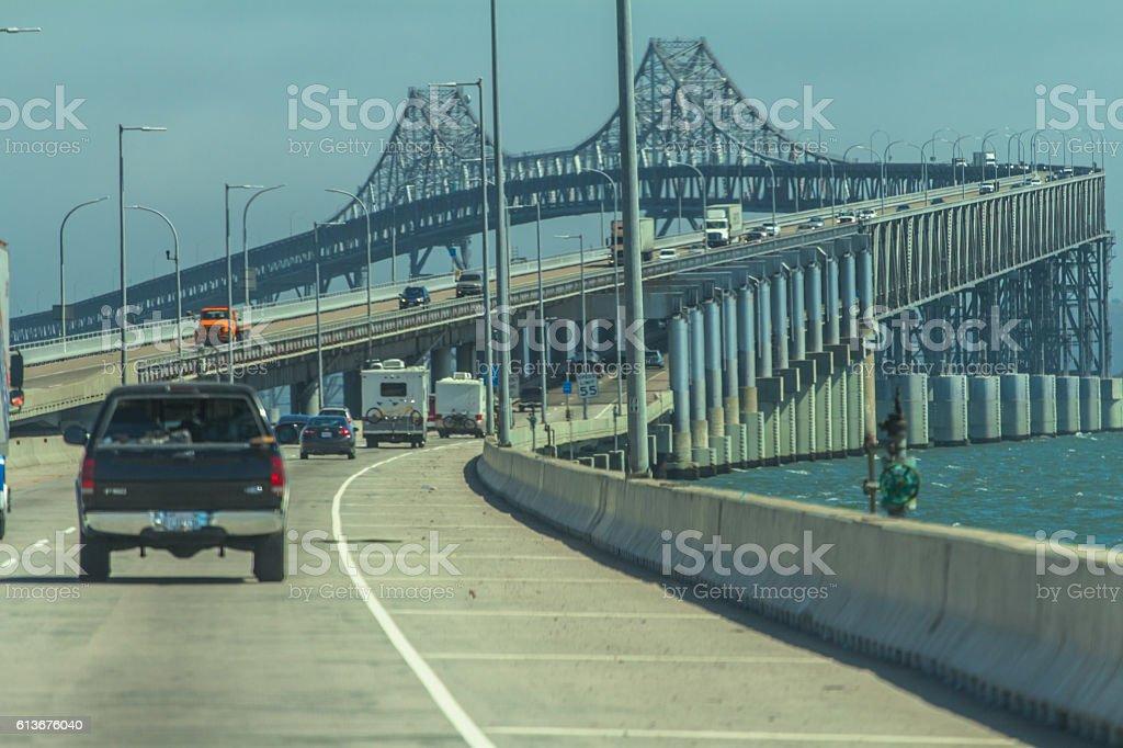 Richmond bridge in San Francisco ca stock photo