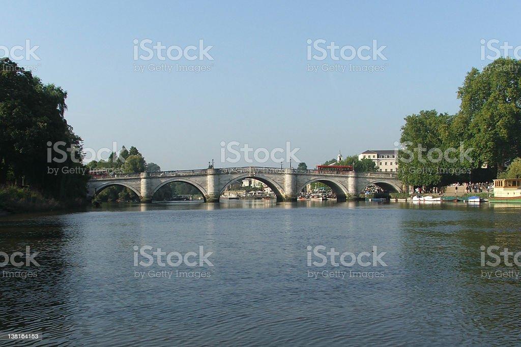 Richmond Bridge, London royalty-free stock photo