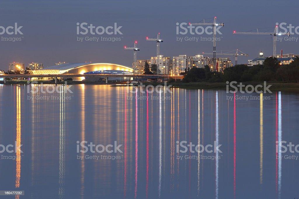 Richmond Development, Fraser River, British Columbia royalty-free stock photo
