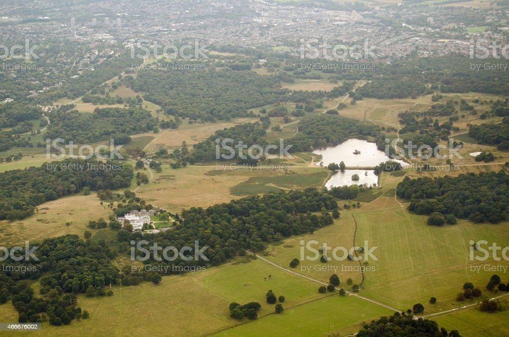 Richmond Park aerial view stock photo
