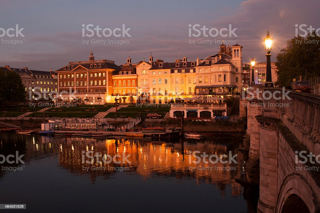 Richmond Riverside at Dusk stock photo