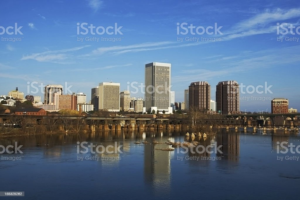 Richmond Skyline at Twilight stock photo