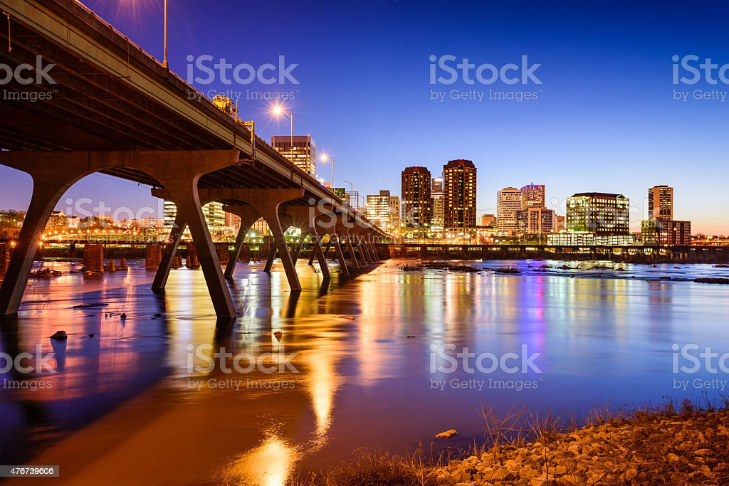 Richmond Skyline stock photo