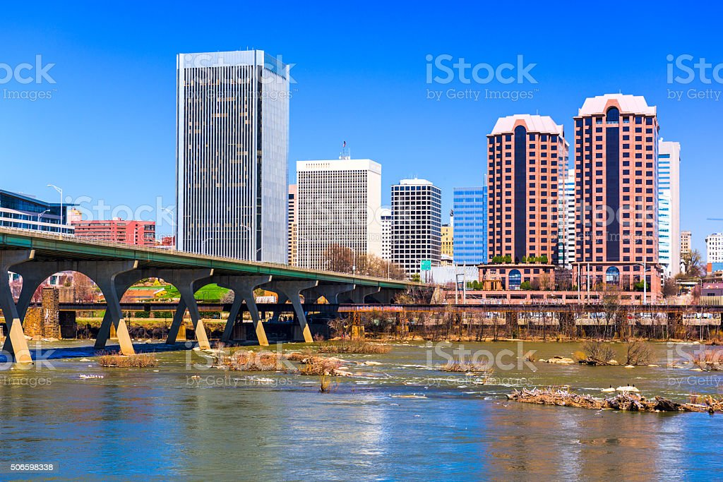 Richmond Virginia Cityscape stock photo