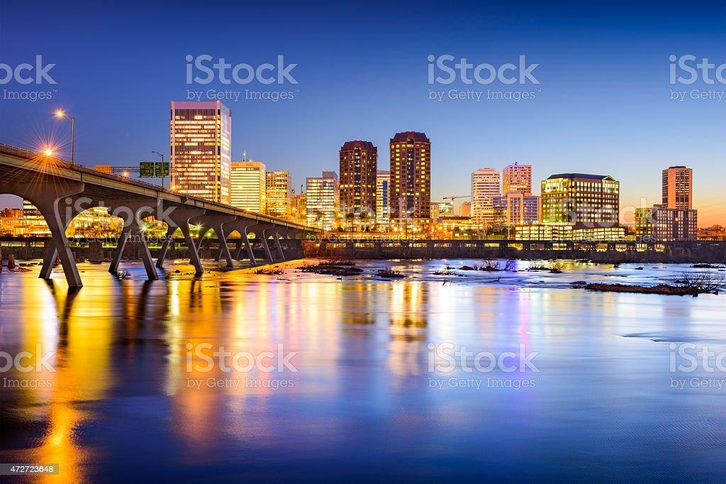 Richmond Virginia Downtown Skyline stock photo