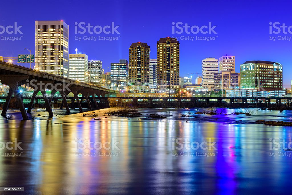 Richmond Virginia Downtown Skyline stock photo