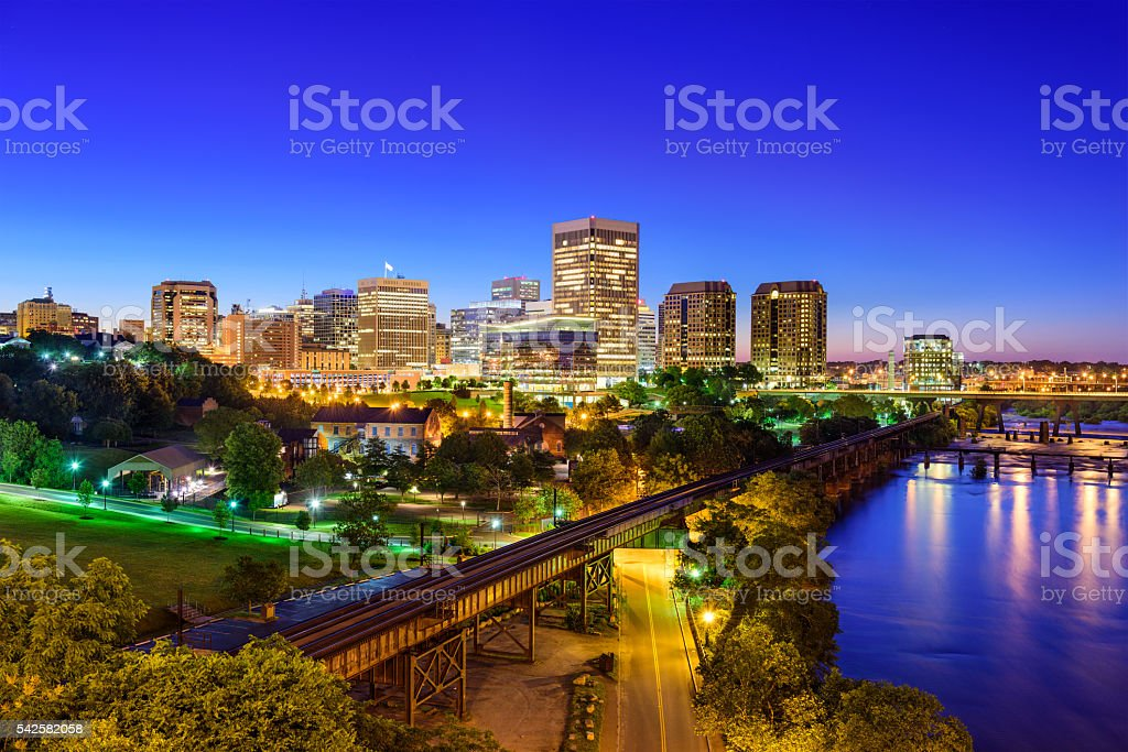 Richmond, Virginia Downtown Skyline stock photo